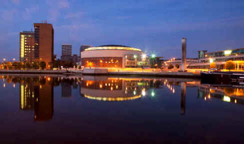 Belfast waterfront at night